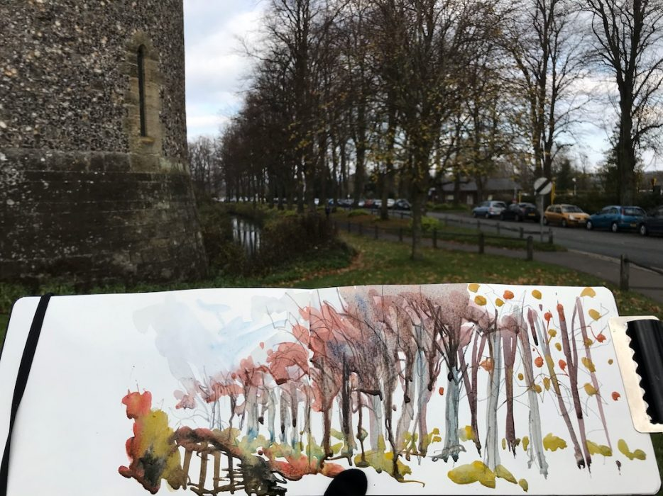 Arundel in Autumn 2018 Sketchbook