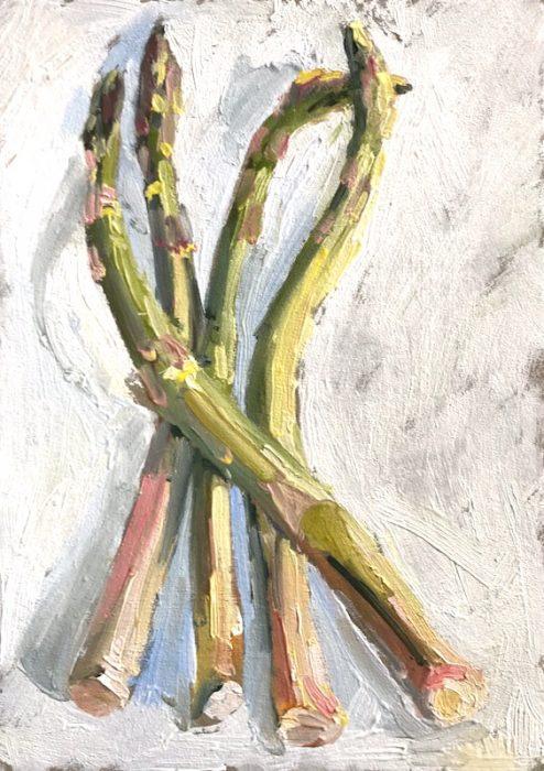 Asparagus 2019 20x15cms