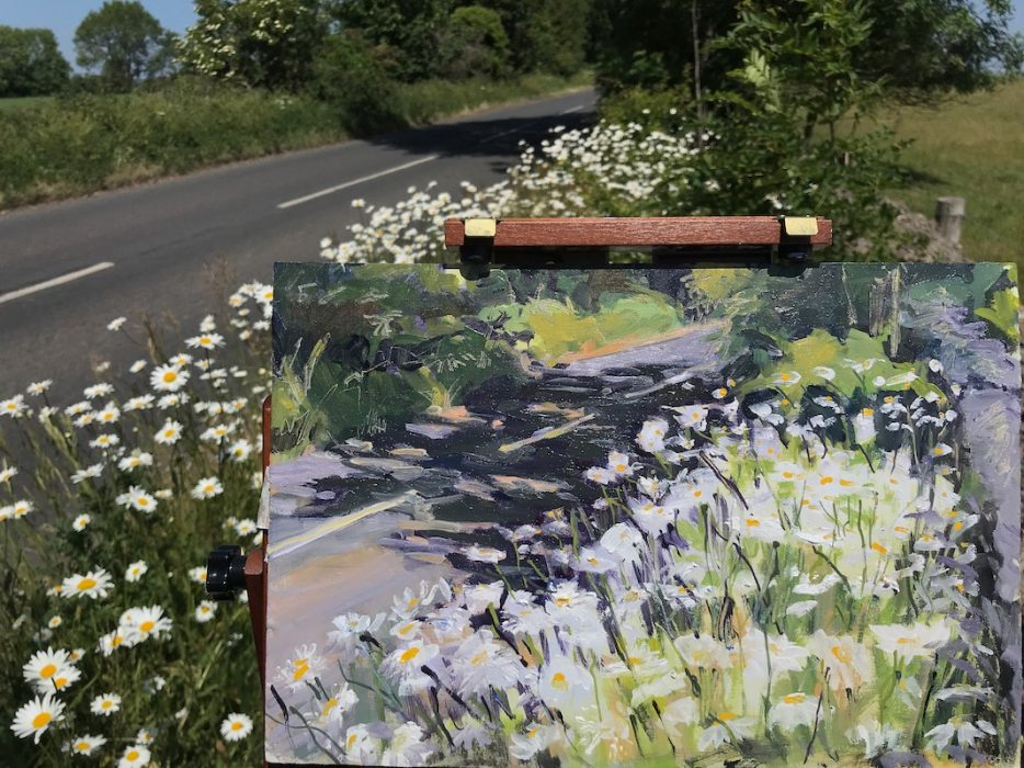 Dog Daisies Roadside Bath 20x30cms