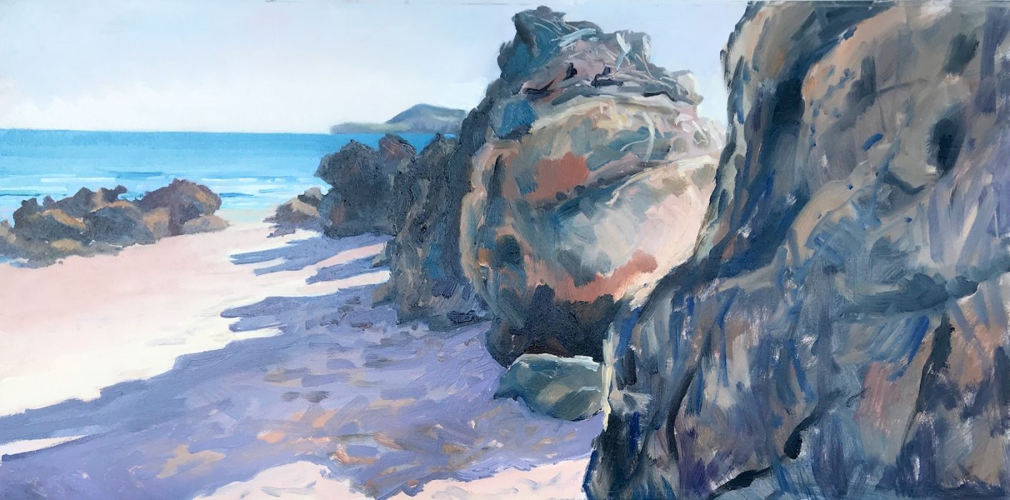 Long Shadows; San Vicente de la Barquera 2020 30x60cms