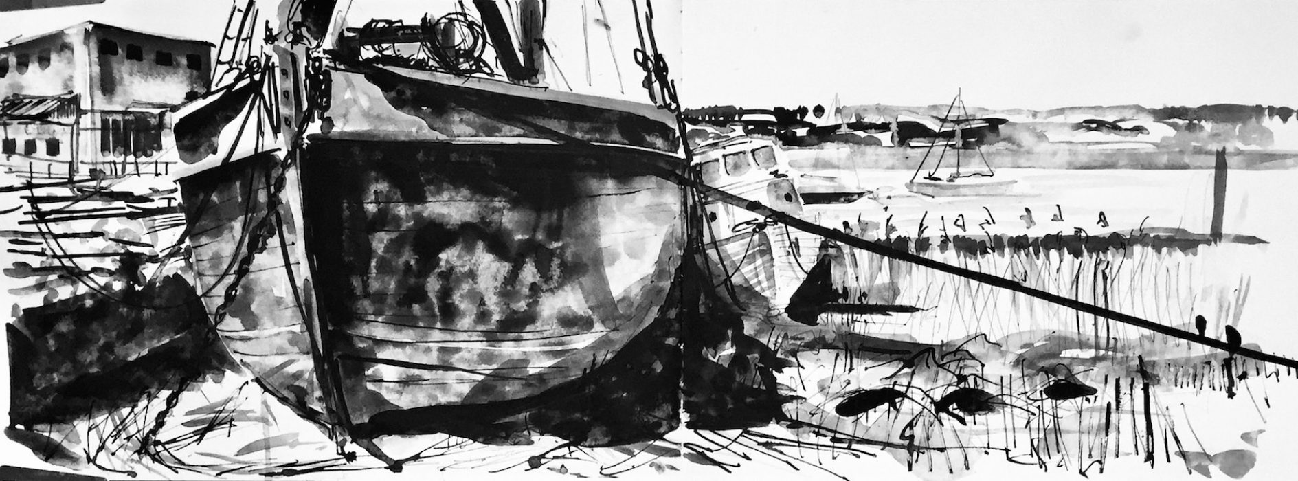 Topsham Barge 2018 35x45cms